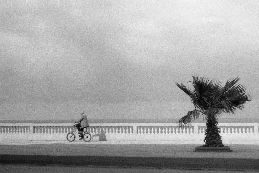 L'homme en vélo